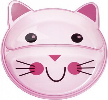 купить Тарелка с разделением Canpol babies Animals 74/005 котенок розовая дешево