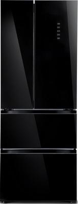 Многокамерный холодильник TESLER RFD-360 I BLACK GLASS