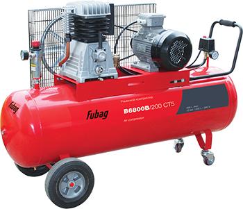 Компрессор FUBAG B 6800 B/200 45681533 компрессор fubag в6800в 200 ct5 690л мин 200л 10бар 4квт 380в