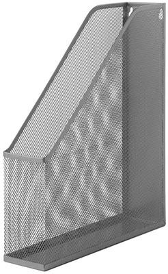 Лоток вертикальный для бумаг Brauberg ''Germanium'' (250х72х315 мм) металлический серебряный 231949 недорого