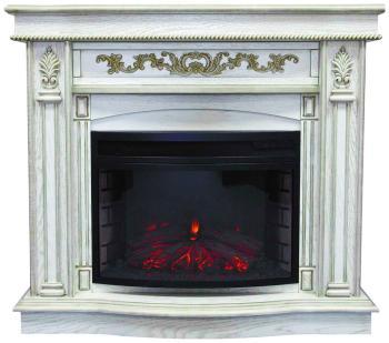 Каминокомплект Royal Flame Cardinal с очагом Dioramic 25 FX (дуб белый с пат.зол) (64905286) цена