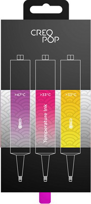 Чернила для 3D ручки чувствительные к температуре (Purple, Pink, Yellow) CreoPop SKU 009 creopop ink 3d printer pen plastic pla filament set petg rods moscow cheap russia delivery temperature purple pink orange