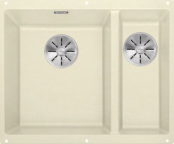 цена Кухонная мойка BLANCO SUBLINE 340/160-U SILGRANIT жасмин (чаша слева) с отв.арм. InFino 523553