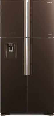 лучшая цена Холодильник Side by Side Hitachi R-W 662 PU7 GBW коричневое стекло