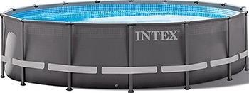 Бассейн Intex Ultra Frame 488х122см 19156л 26326 intex бассейн каркасный ultra frame pool