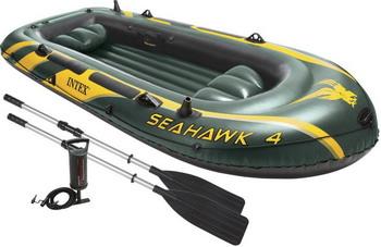 Надувная лодка Intex Seahawk 4 Set 68351 цена
