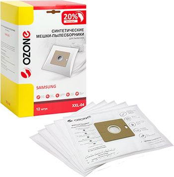 цена Мешки-пылесборники Ozone XXL-04 синтетические для пылесоса 12 шт онлайн в 2017 году