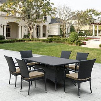 Комплект мебели Афина T 170 S/S6Black 6Pcs