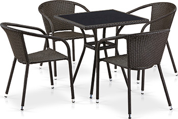 Комплект мебели Афина T 282 BNS/Y 137 C-W 53 Brown 4Pcs