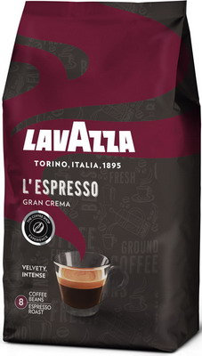 Кофе зерновой Lavazza L'Espresso Gran Crema 1 кг