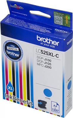 Картридж Brother LC 525 XLC голубой картридж mak© tk 130 черный для лазерного принтера