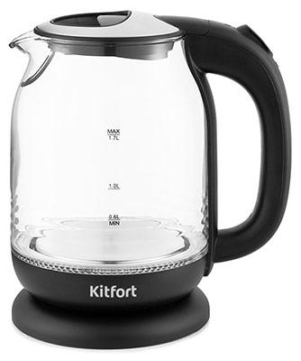 Чайник электрический Kitfort KT-654-6 чёрный цена