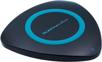 Беспроводное ЗУ Qumann QWC-01 Wireless Delta Qi Charger Black/Blue ring 50512