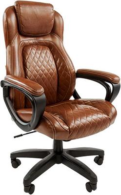 Кресло Chairman 432 экопремиум коричневая N 00-07028643