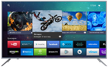 4K (UHD) телевизор KIVI 55U730GR телевизор 32 kivi 32fr50br full hd 1920x1080 smart tv серый