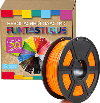 PLA-пластик в катушке Funtastique PLA-1KG-OR 1.75 мм 1 кг (Оранжевый)