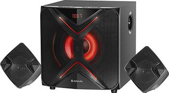 Акустическая система 2.1 Defender G60 60Вт BT/FM/MP3/SD/USB/LED/RC (65860)