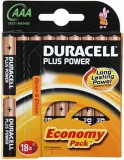 Батарейка Duracell Basic LR03-18BL MN2400 AAA (18шт) батарейка aaa rexant lr03 1200 mah 30 1012