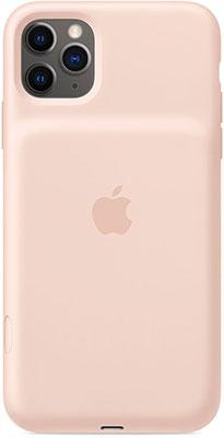Чехол-аккумулятор Apple для iPhone 11 Pro Max Smart Battery Case with Wireless Charging - Pink Sand MWVR2ZM/A чехол аккумулятор для iphone xs apple smart battery case pink sand клип клейс силикон беспроводная зарядка