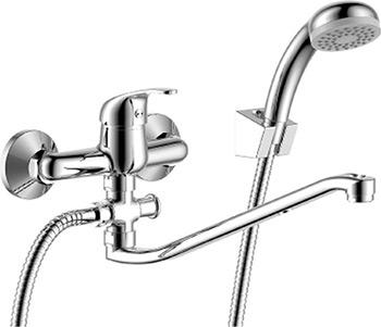 Смеситель для ванной комнаты Rossinka Y35-35 для ванны универсальный с S-образным изливом фото