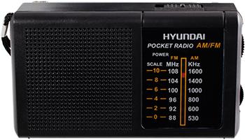 Радиоприемник портативный Hyundai H-PSR130 черный фото