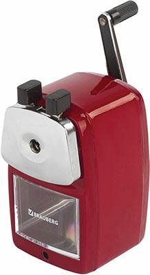 Точилка механическая Brauberg Red Power металлический корпус и механизм красная 222099