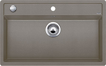 Кухонная мойка BLANCO DALAGO 8 SILGRANIT серый беж с клапаном-автоматом кухонная мойка blanco dalago 45 f silgranit кофе с клапаном автоматом