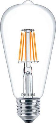 Лампа Philips LEDClassic 6-70 W ST 64 E 27 WW CL APR future 1 cl cd 6