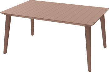 Стол Allibert Lima 160 капучино 17202806/КАП комплект мебели allibert corona set with cushion box капучино 17198017