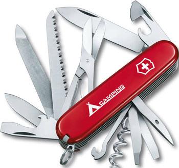 Нож перочинный Victorinox Ranger  91 мм  21 функция  красный  с логотипом ''Camping''