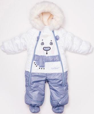Комбинезон Fox-cub Джинс 1 для мальчика (Р. 74) Белый ползунки для мальчика совенокя совята цвет голубой 2 370 размер 74