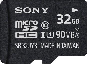 Карта памяти Sony MicroSD 32 ГБ 32 UY3A UHS-I U1 с адаптером карта памяти microsdhc kingston sdc10g2 64gb class10 u1 uhs i с адаптером