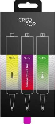 Чернила для 3D ручки чувствительные к температуре (Yellow, Purple, Green) CreoPop SKU 010 цена