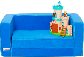 Раскладной игровой диванчик Paremo голубой PCR 316-06