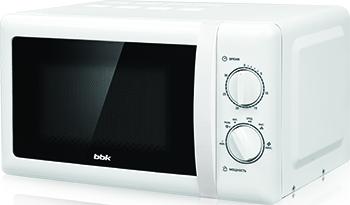 Микроволновая печь - СВЧ BBK 20 MWS-716 M/W белый supra микроволновая печь mws 2103ms 700 вт 21л