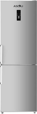 Двухкамерный холодильник Ascoli ADRFI 375 WE Inox однокамерный холодильник ascoli asli 340 we