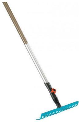 Комплект Gardena Грабли 30 см (насадка для комбисистемы) Рукоятка деревянная 130 см (Дисплей) 03024-20 цена и фото