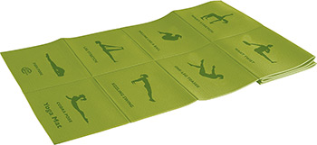 Коврик для йоги и фитнеса Lite Weights 5455 LW салатовый
