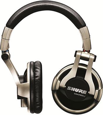 Накладные наушники Shure SRH 750 DJ-EFS серебристый аксессуар для наушников shure sha900 серебристый