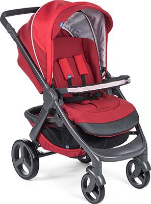 Коляска Chicco 2 в 1 Stylego Up Crossover Red Passion (люлька и прогулочный блок) прогулочный блок для второго ребенка egg tandem seat petrol blue