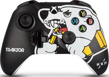 Геймпад Microsoft Xbox One КХЛ ''Трактор'' microsoft кхл все хоккей беспроводной геймпад для xbox one
