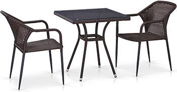 Комплект мебели Афина T 282 BNT/Y 35-W 2390 Brown 2Pcs