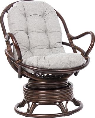 Кресло-качалка RattanDesign SWIVEL ROCKER МИ с подушкой MI-002 цвет Орех кресло качалка плетёное rc 8001 гобелен доступные цвета орех кресло качалка