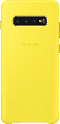 Чехол (клип-кейс) Samsung S 10+ (G 975) LeatherCover yellow EF-VG 975 LYEGRU