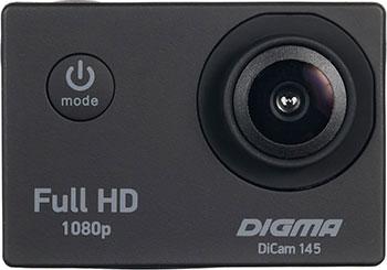 лучшая цена Экшн-камера Digma DiCam 145 черный