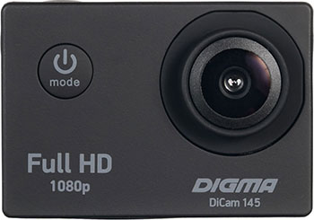 Экшн-камера Digma DiCam 145 черный denn dac211 экшн камера