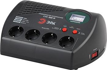 Стабилизатор напряжения ЭРА СНК-500-М стабилизатор напряжения ippon avr 1000 4 розетки 1 м черный