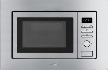 Встраиваемая микроволновая печь СВЧ Smeg FMI017X цена и фото