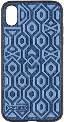 Чехол (клип-кейс) Lyambda ERIS для iPhone XR (LA11-ER-XR-BL) Blue чехол x level enjoy card для apple iphone xr blue
