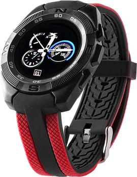 Умные часы Prolike Jet PLSW7000RD с цветным дисплеем черно-красные